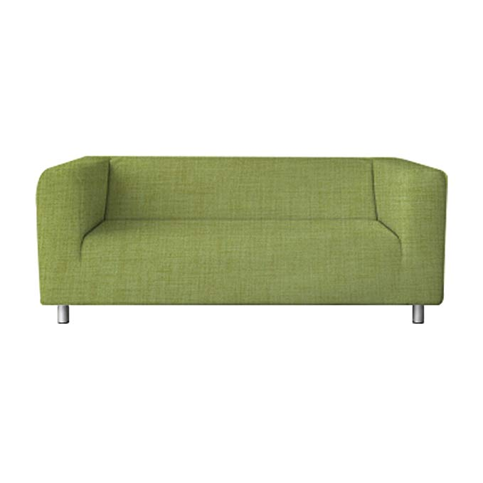 TLYESD Klippan Loveseat Slipcover 15 Colors 3 material Customized for The Ikea 2 Seater Kilippan Loveseat Sofa Cover Slipcover Replacement (Green, Polyester)