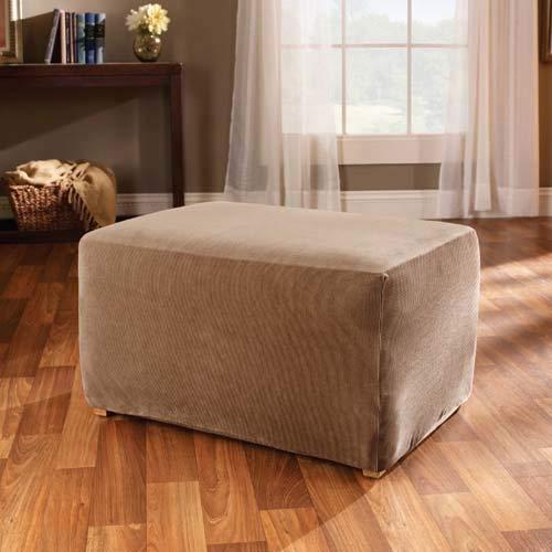 Sure Fit Stretch Stripe - Ottoman Slipcover - Brown (SF37760)