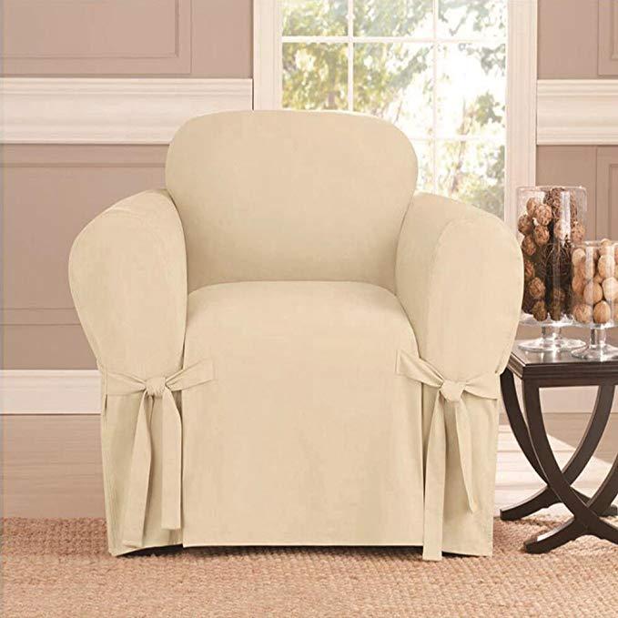 Microsuede Furniture Slipcover Sofa 57 x 91- Beige
