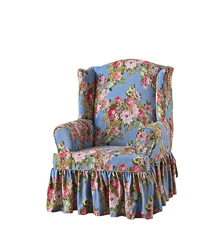Sure Fit Juliet by Waverly Wing Chair Slipcover - Chambray